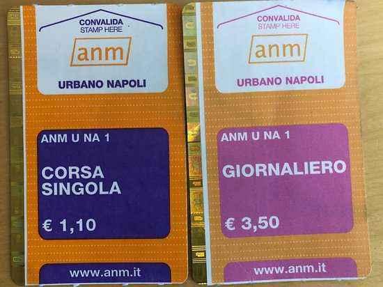 Проездной билет на метро и автобус Неаполя
