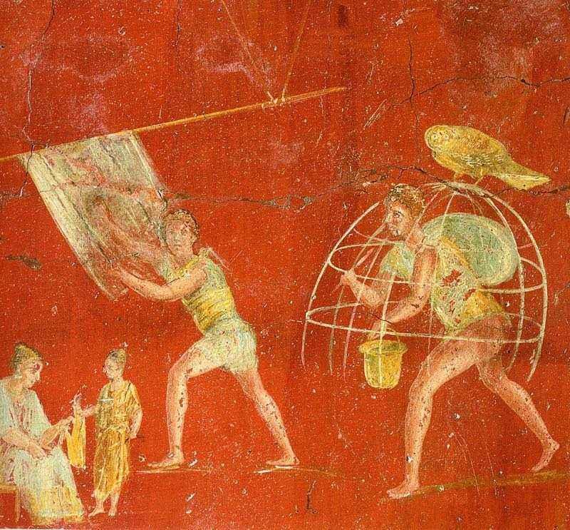 process-raboty-prachechnikov-stirka-belya-freska-antichnyhle-pompei